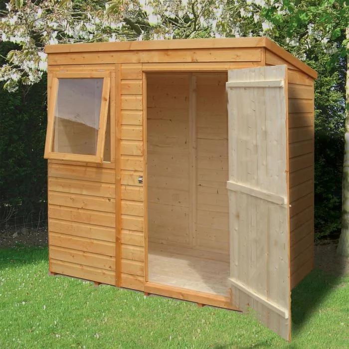 6 X 4 Shire Shiplap Pent Wooden Garden Shed Shedstore