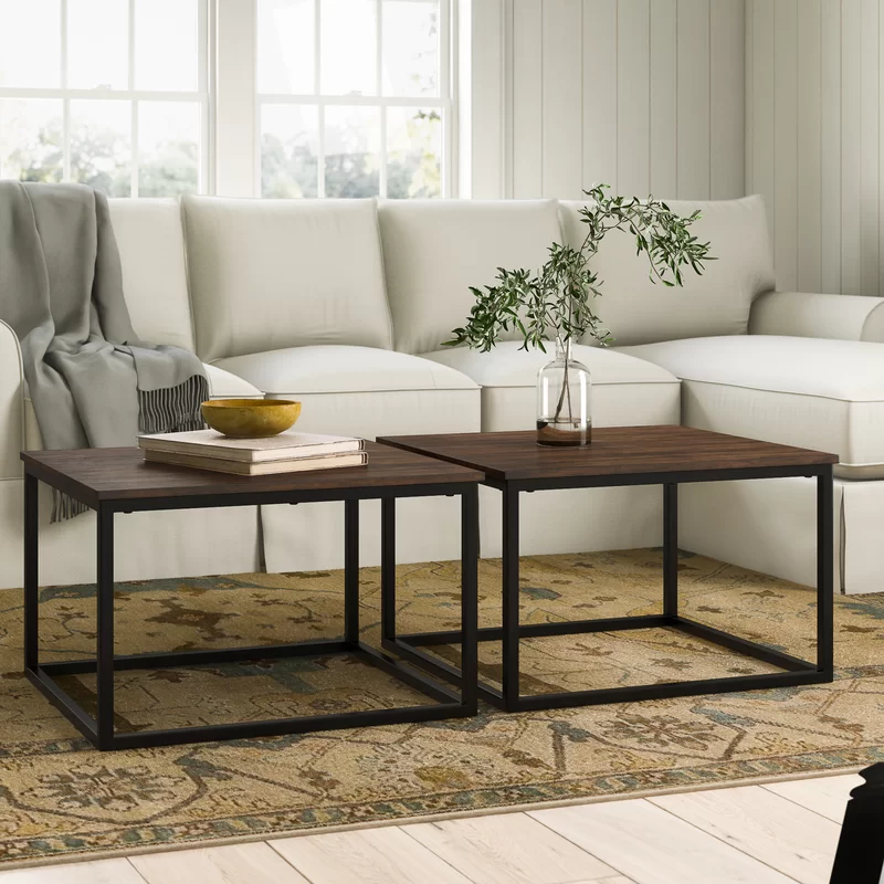 Hensley 2 Piece Square Coffee Table Set Coffee Table Square Coffee Table Square Coffee Table Decor