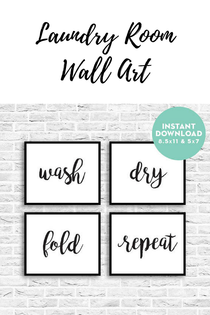 Wash Dry Fold Repeat Laundry Room Printables Laundry Room Quotes Home Decor Printable Wall Art Calligraphy Prints Home Art Printables Laundry Room Quotes Laundry Room Printables Home Quotes And Sayings