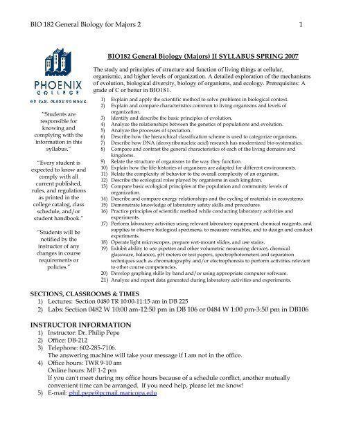 Principles Of Ecology Worksheet Answers Bio 182 General ...