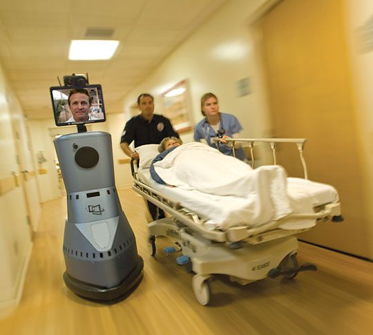 InTouch Technologies' RP-7 is designed to provide physicians with mobility  even when they must perform from a remo… | Industry sectors, Robot  technology, Technology