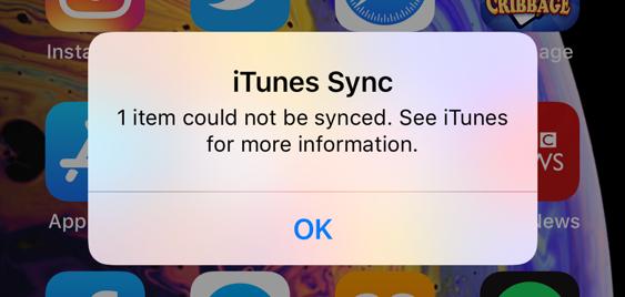 How do I fix iTunes Sync Fail on iPhone Sync, Itunes, Iphone