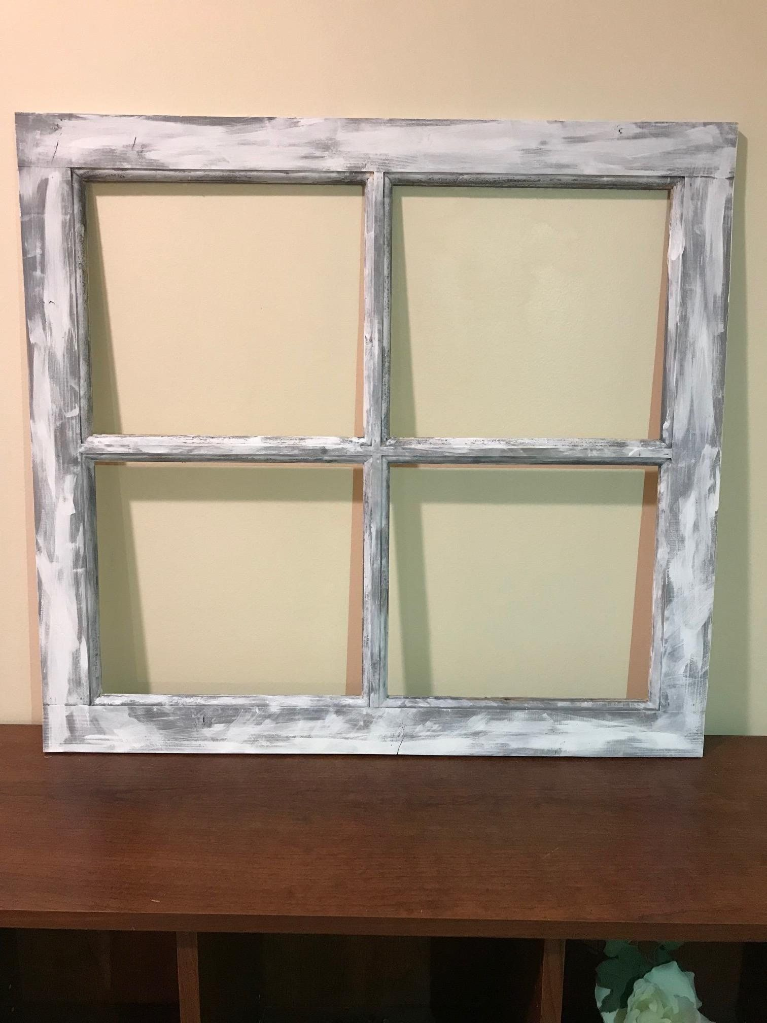 A Personal Favorite From My Etsy Shop Https Www Etsy Com Listing 228785745 No Glass Vintage 4 Pane Window Frame 28 Window Frame Frame Window Frames