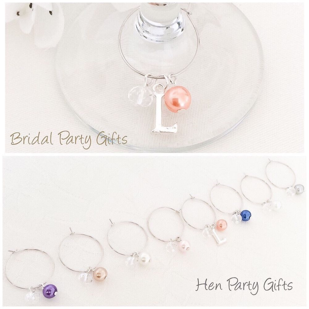 Wine Glass Charm, Wine Charms, Hen Party, Bridal Party, Personalised Gift  | eBay