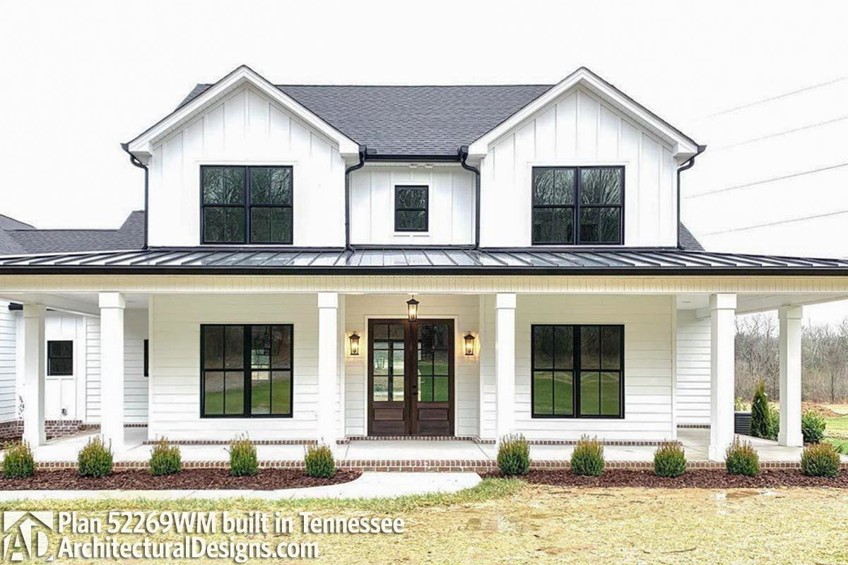 Expanded Farmhouse Plan with 3 or 4 Beds