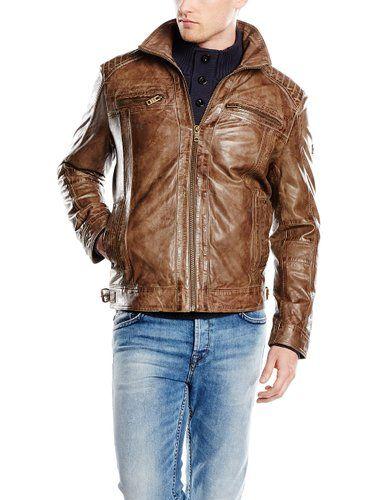 great fit outlet on sale get online Camel Active Herren Lederjacke 5102, Gr. Large ...
