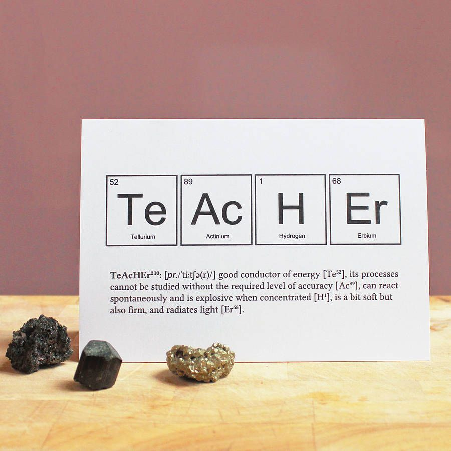 Teacher periodic table humourous card periodic table teacher and teacher periodic table humourous card urtaz Choice Image