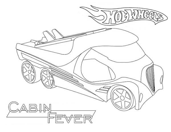 Hot Wheels Cabin Fever Coloring Page NetArt di 2020