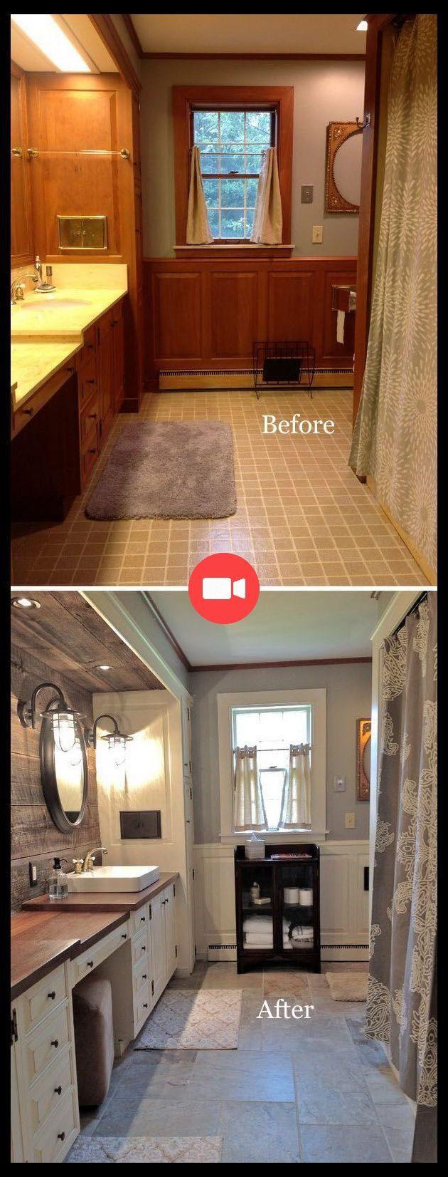 Avant et Après: 40 Étonnante salle de Bains Relooking salle de Bain Petite, Relooking Avant Et Après ... #ideesdemaquillage #maquillagefaciles #homestagingavantapres