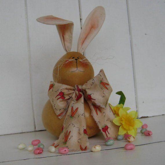 Gourdy the Bunny Gourd -- She makes Bunnies too!