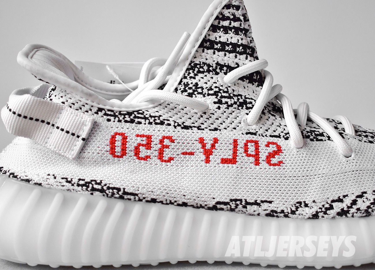 3f98c75478a3e Adidas Yeezy Boost 350 V2 Zebra Kanye 100% Authentic White Red Size 4-14  CP9654