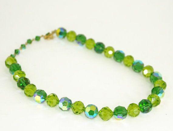 Vintage Crystal Necklace VENDOME Aurora by ForgottenCotton on Etsy, $80.00