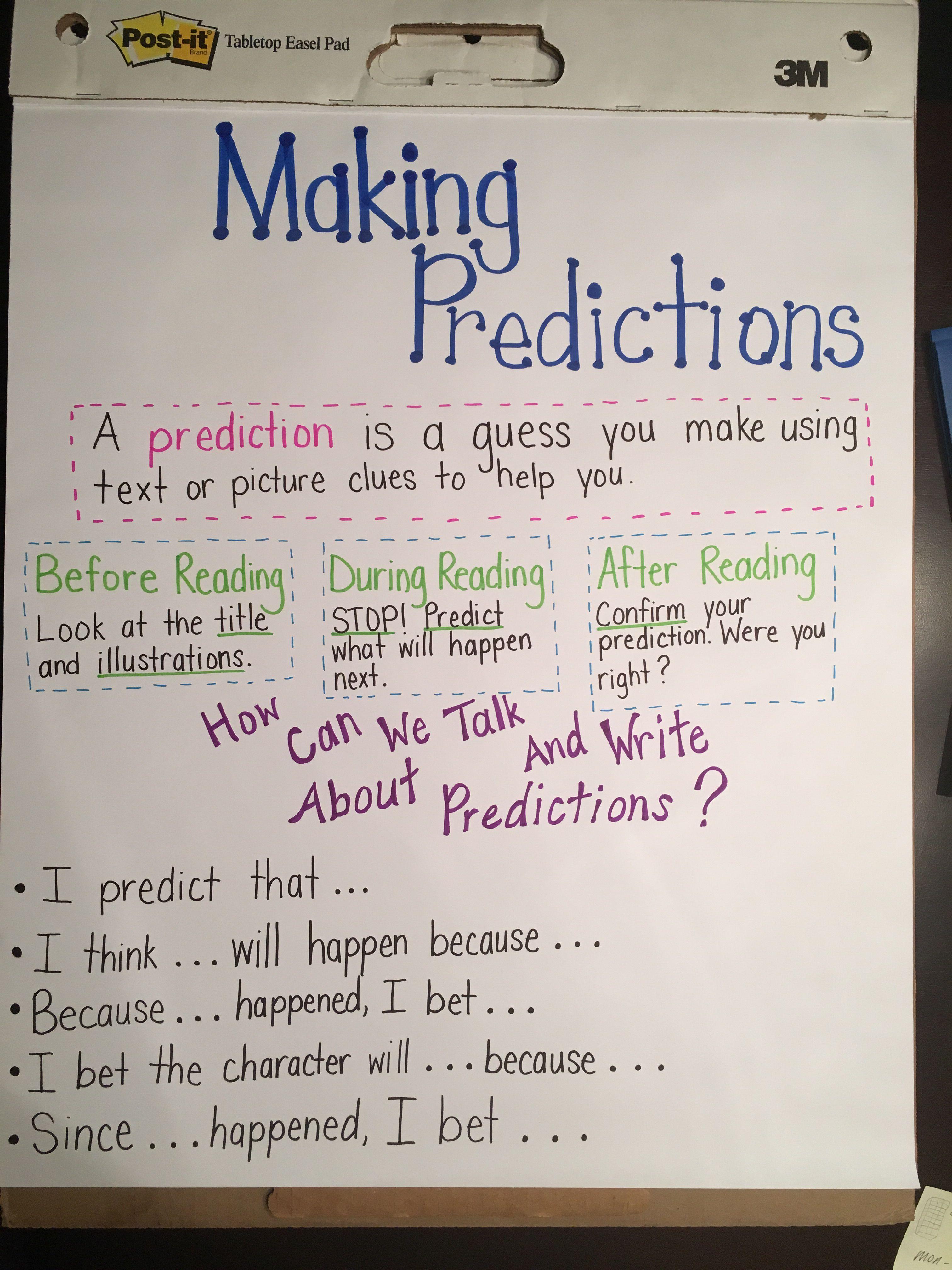 small resolution of making predictions anchor chart - Boroyo