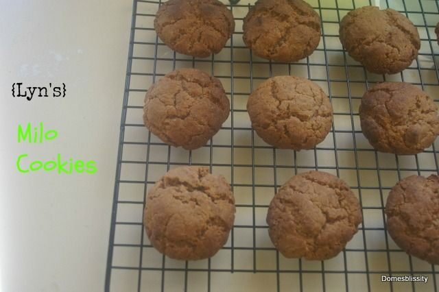 Domesblissity: {Lyn's} Milo Cookies and all about tuckshop