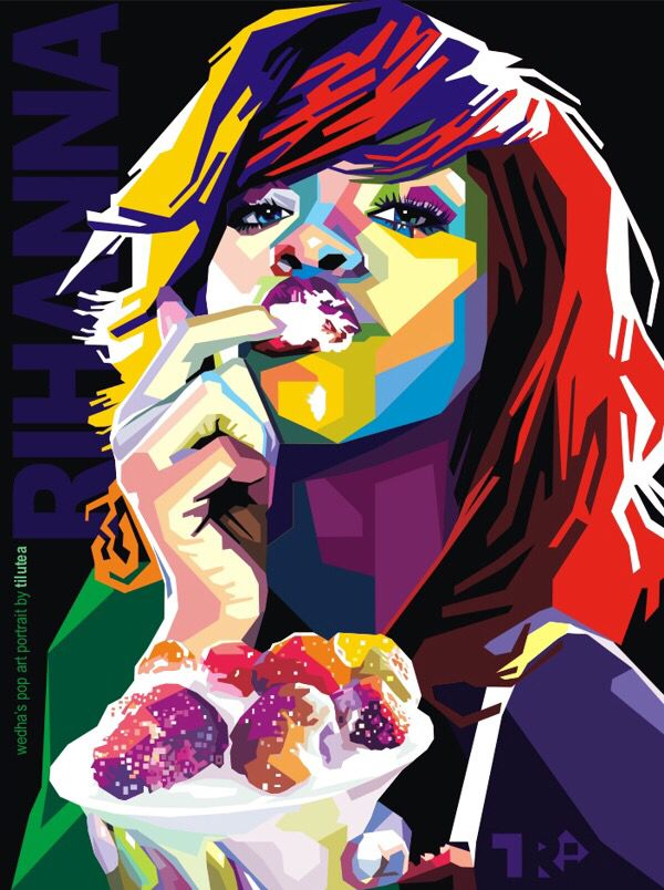 Rihanna pop art | Celebrity Pop Art | Pinterest | Rihanna