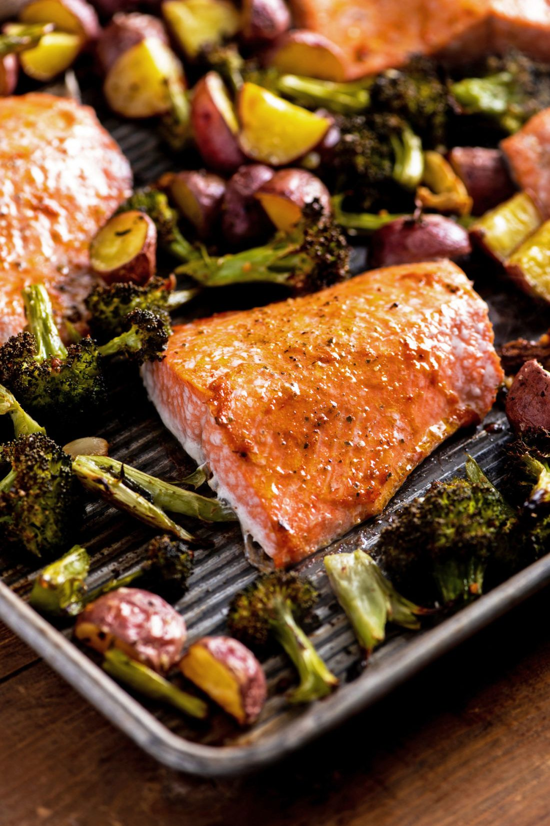 Salmon, Potato and Broccoli Sheet Pan Supper — The Mom 100