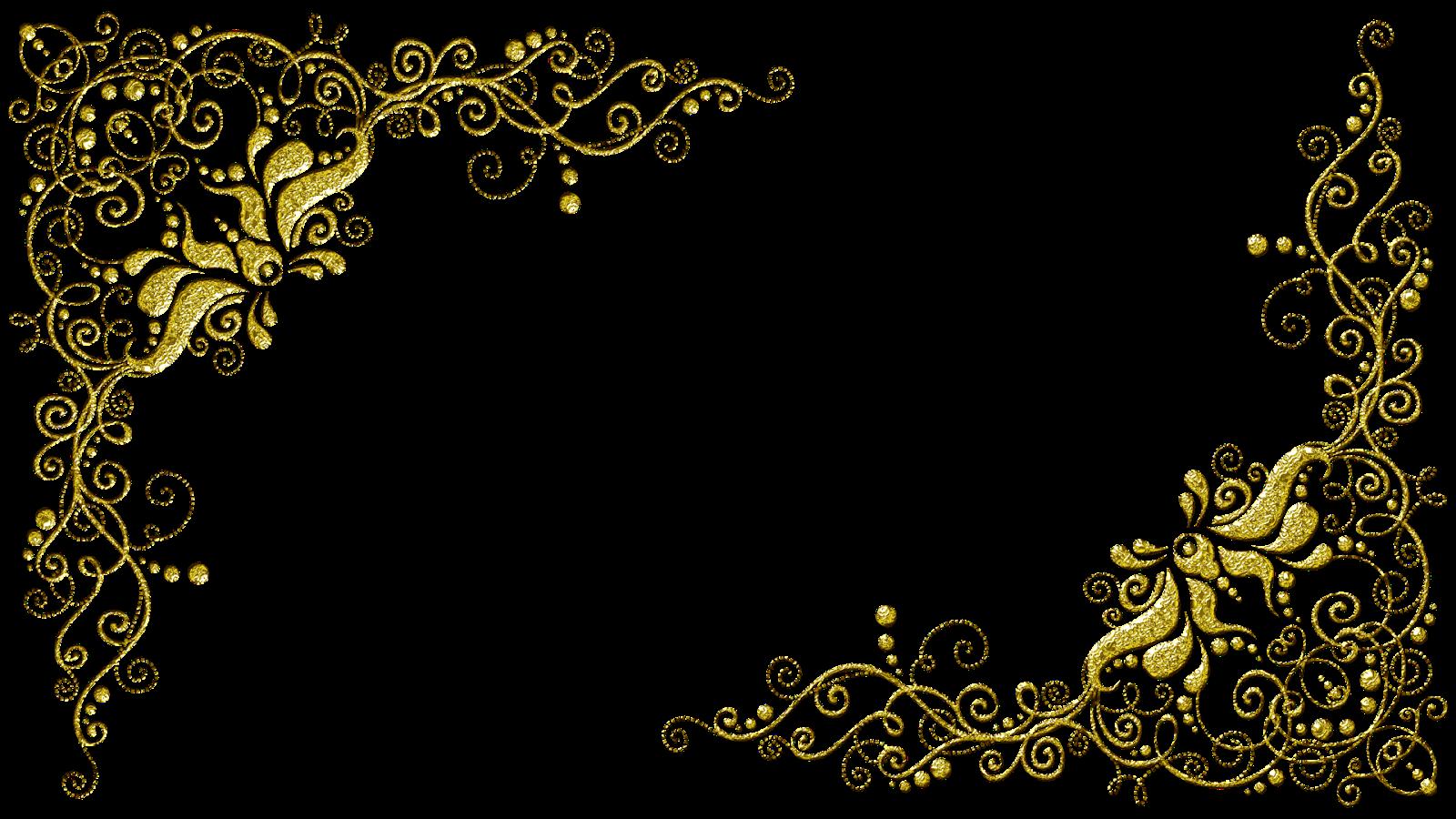 Molduras Com Arabescos Dourados Molduras Para Convites De