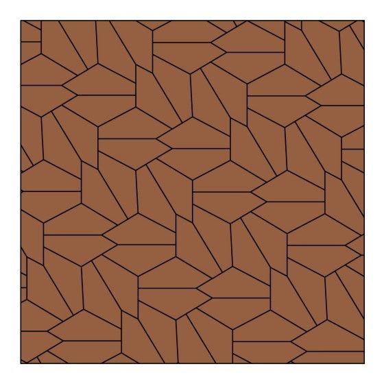 15 Fünfeckformen haben Mathematiker bislang entdeckt, mit denen sich eine Fläche lückenlos fliesen lässt. Das sind die Lösungen