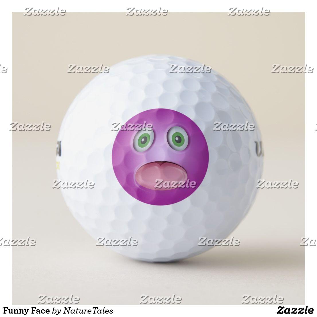 Funny face golf balls golf ball funny