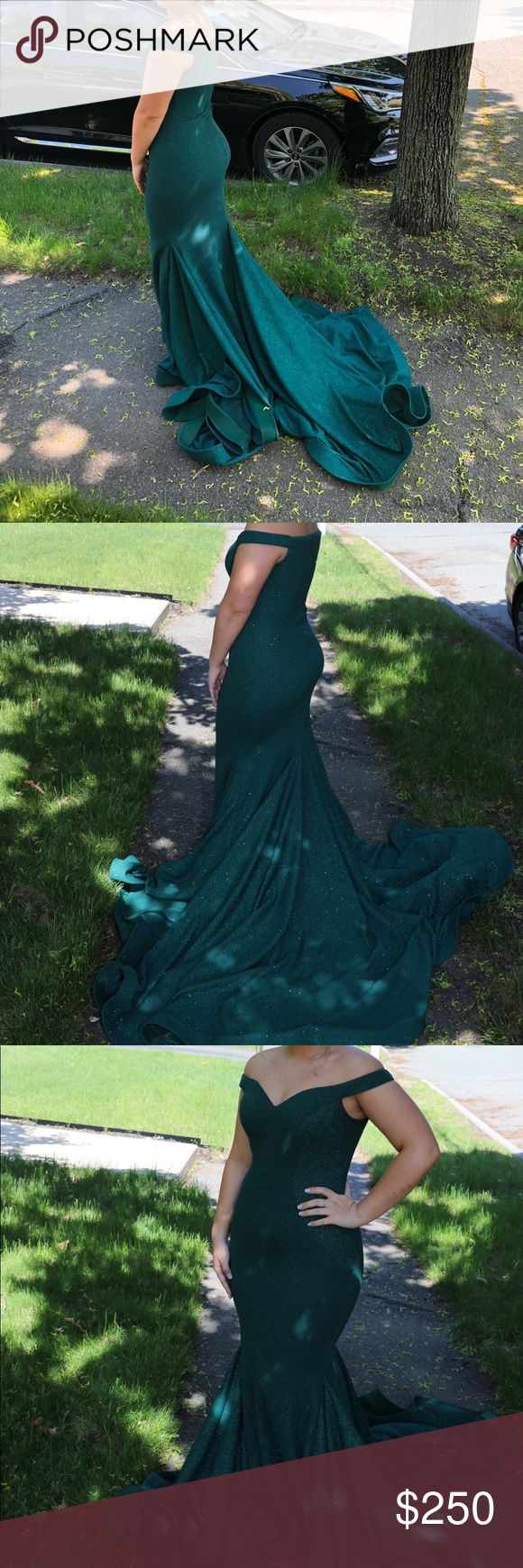 Forest green jovani prom dress my posh picks pinterest dresses