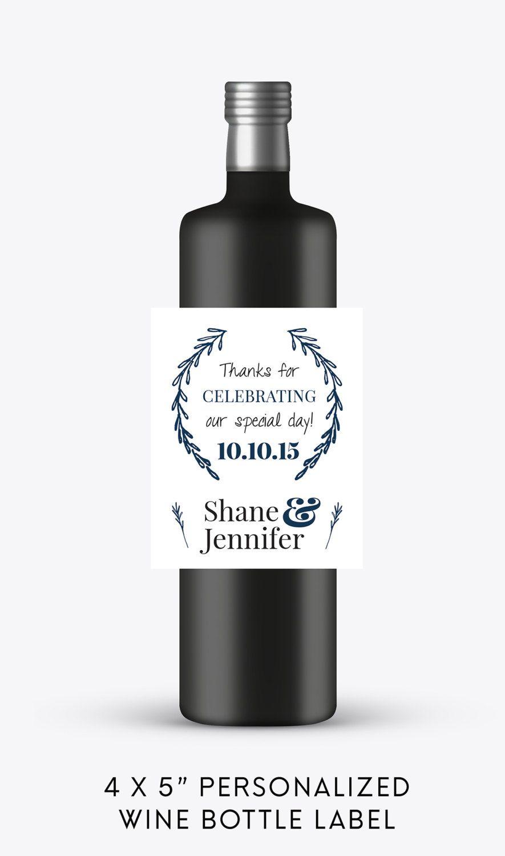 Thanks for Celebrating Wedding Wine Bottle Labels | Engagement Wine ...