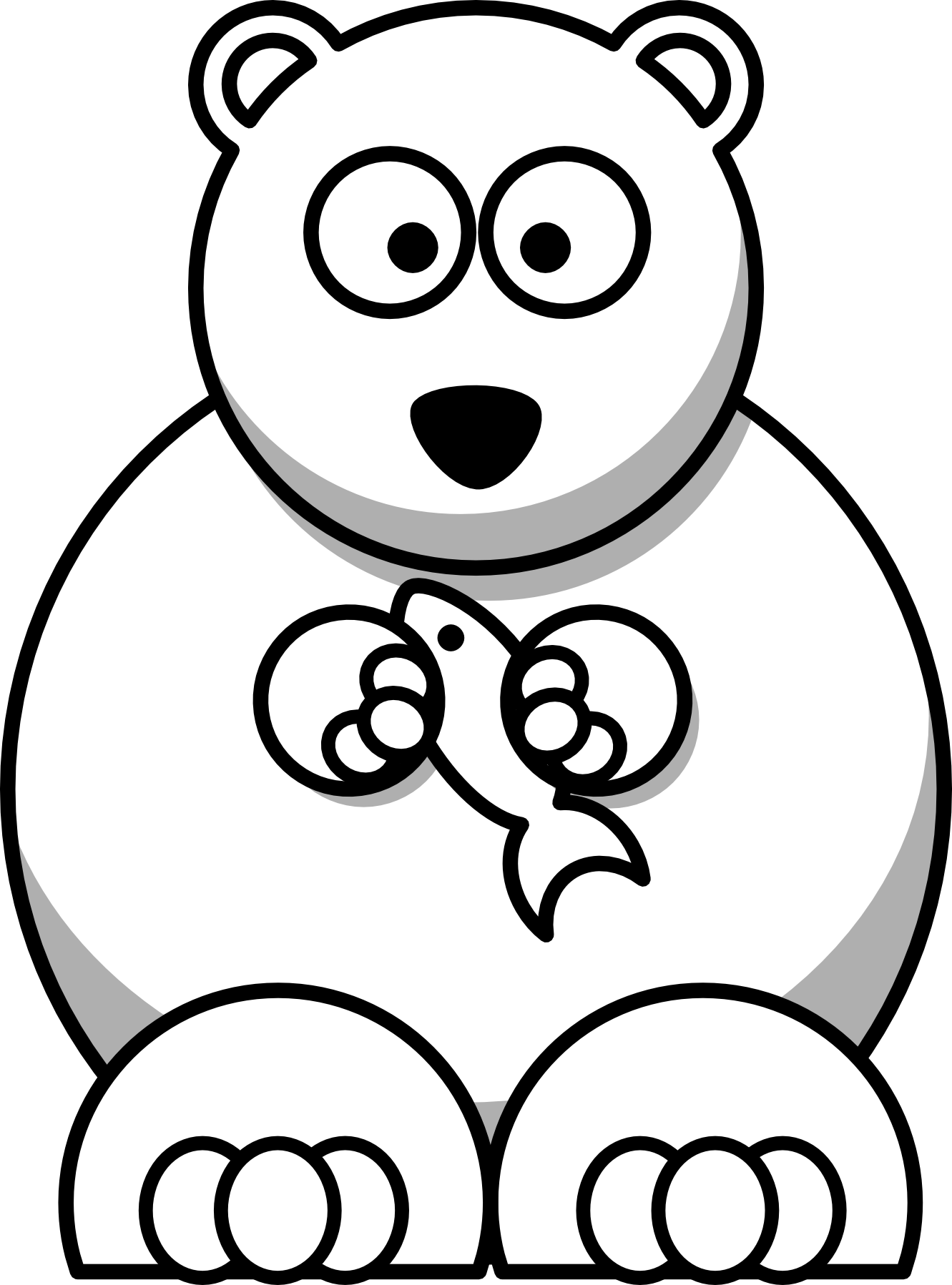 Cartoon Polar Bear Coloring Pages | Cincess | Pinterest | Polar bear ...