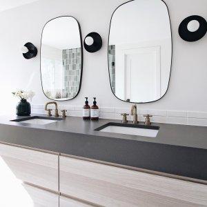 Infinity Black Oblong Wall Mirror Reviews Cb2 In 2020 Mirror Wall Mirror Bathroom Decor