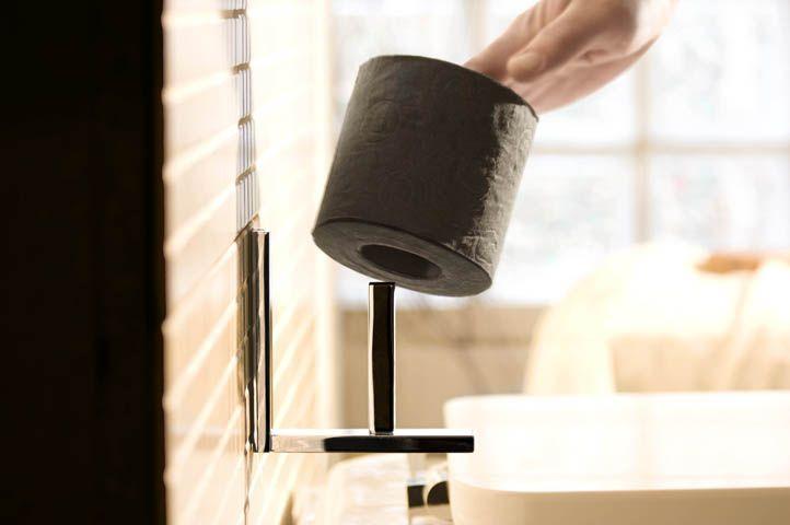 Portarollos auxiliar en latón cromado de BEMEDE. Accesorio de baño ... c8f4056c3e73