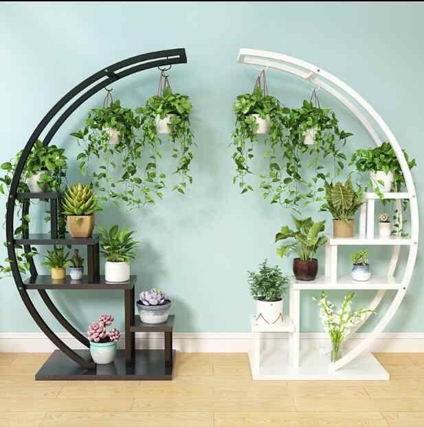 New type of living room household flower shelf, multi-storey indoor special price space balcony decoration shelf, iron pot shelf