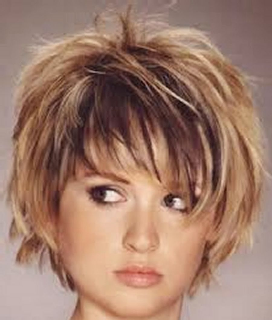 short choppy layered hairstyles with bangs - google search