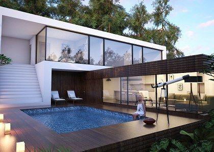 3D models - HOUSES - VILLAS - Villa in the forest & Visopt