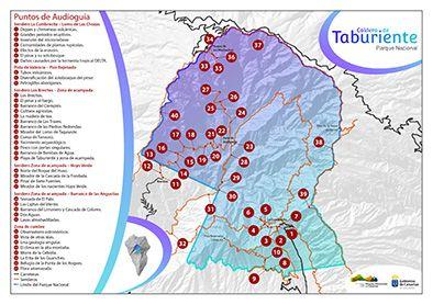 Mapa de audioguía para la Web Parques Nacionales de Canarias. http://www.parquesnacionalesdecanarias.es/es/index.html