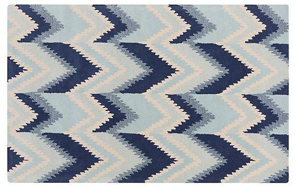 Almaz Flat-Weave Rug, Neutral/Blue | Color