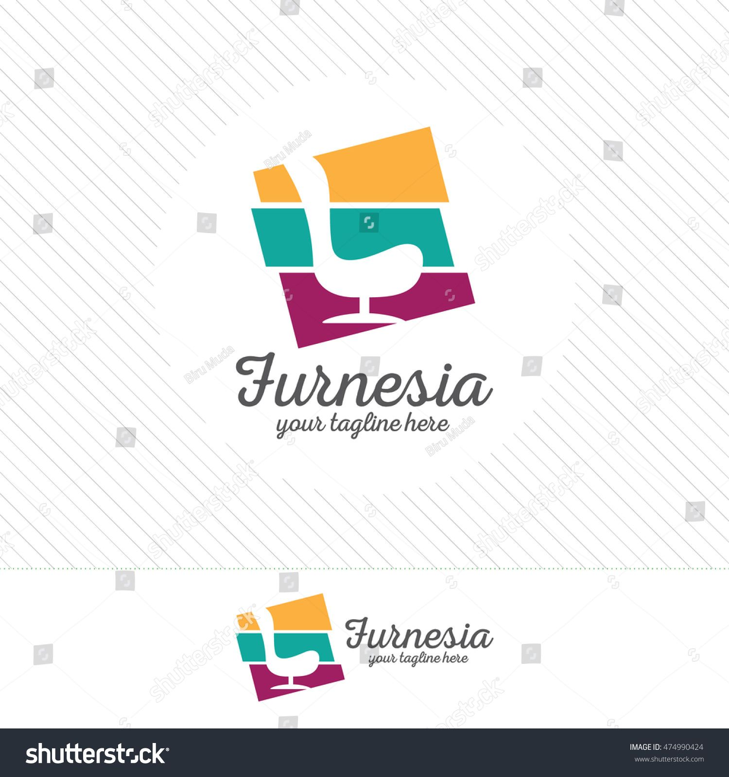 Abstract furniture logo design concept. Symbol and icon of