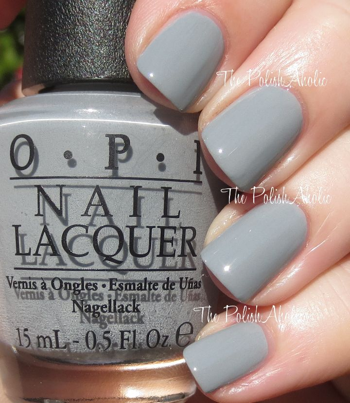 Cement The Deal Opi Fifty Shades Of Grey Collection Swatches Gray Nail Polishgray