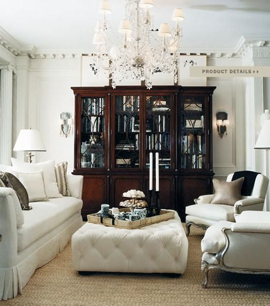 Ralph Lauren Home Living rooms Moldings and Ceilings