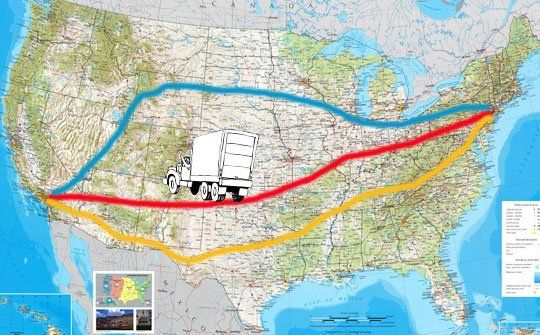 Moving Cross Country Which Is The Best Driving Route For Your Move Moving Cross Country Cross Country Trip Cross Country Road Trip