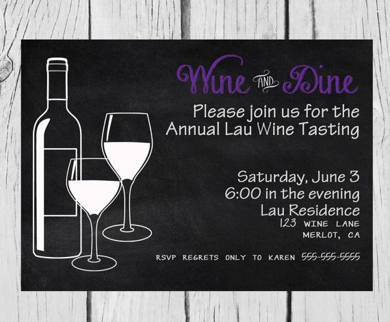 wine tasting invitation bridal shower bachelorette party girls night fundraiser invite wine glasses wine bottle