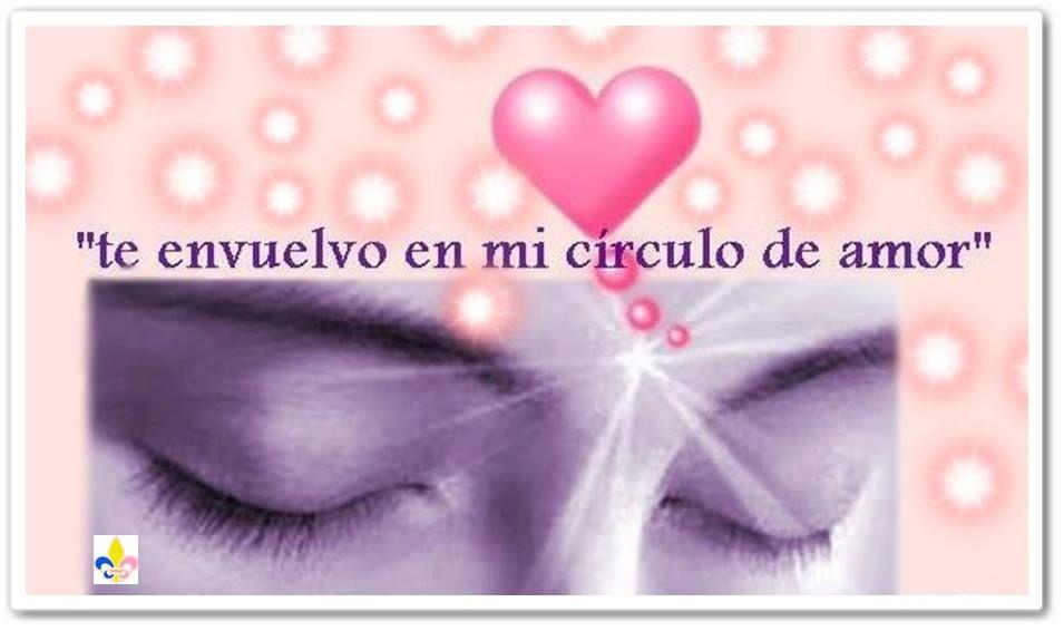 Te envuelvo en mi círculo de amor!