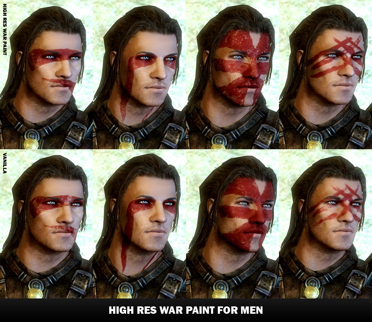 Warrior Face Paint Vikings
