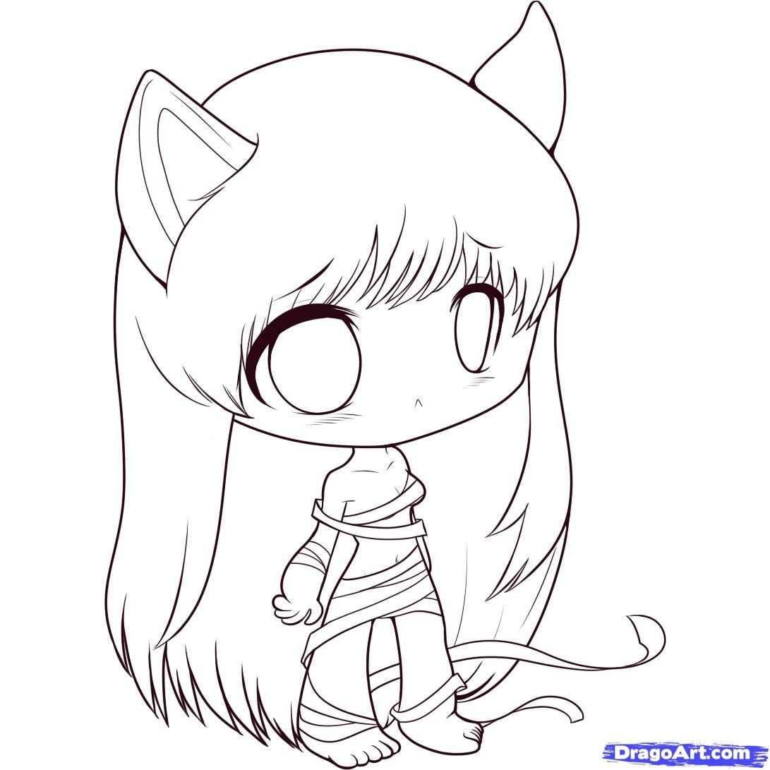 Scribble Drawing Anime : How to draw chibi elfen lied step by chibis