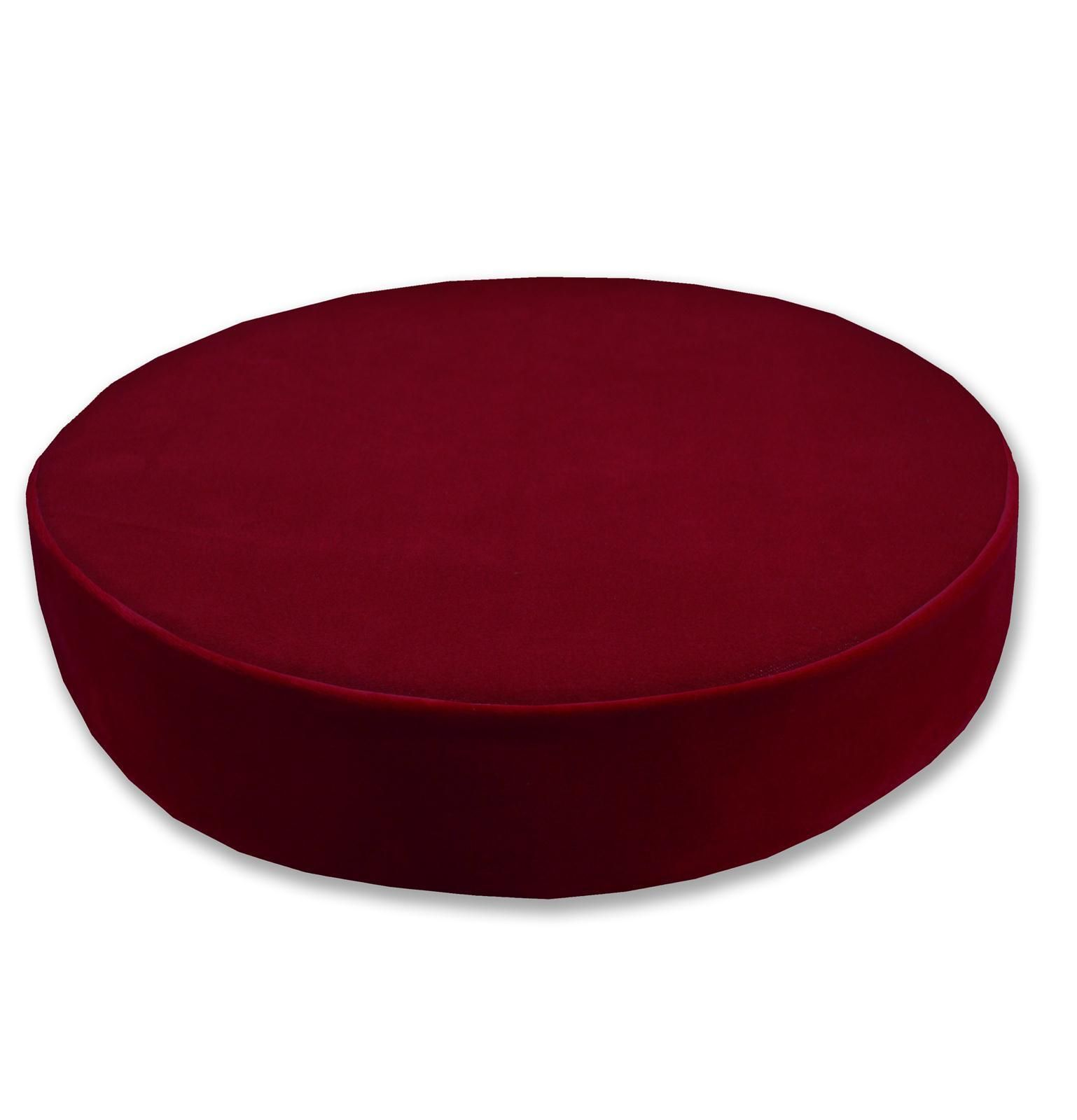 Mfr deep red microfiber velvet thick d round seat cushion cover