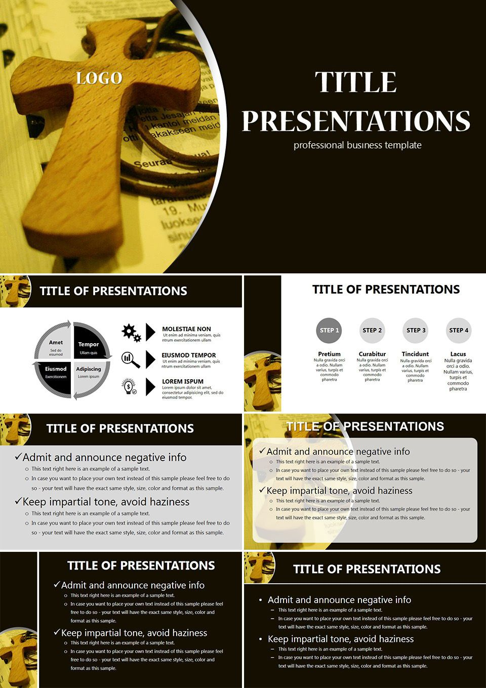 Pectoral Cross Powerpoint Templates  Powerpoint Templates