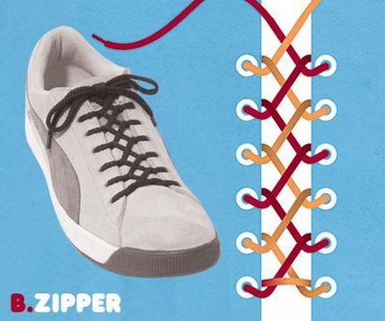 Spitze Schuhe, Schnürsenkel Muster