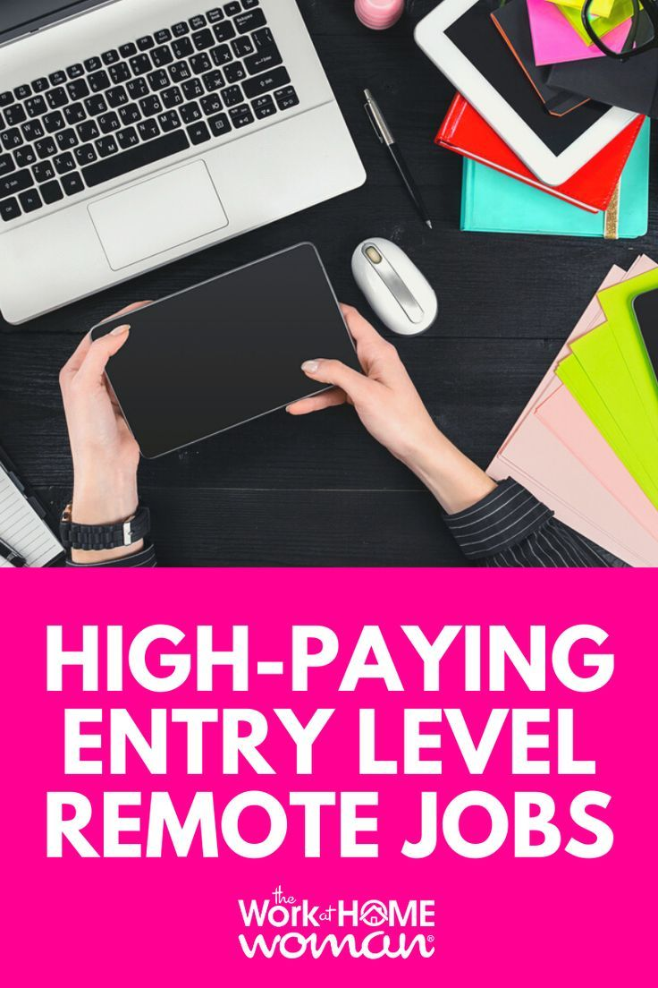Best HighPaying Entry Level WorkFromHome Jobs Work