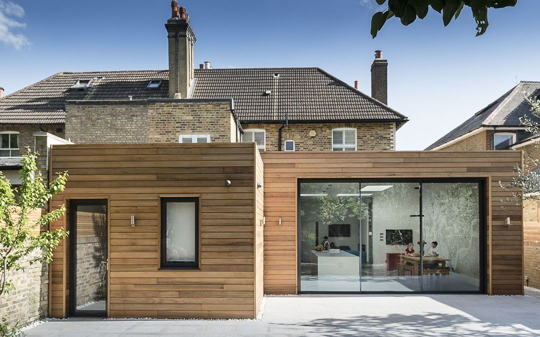 Exterior Rear Extension With A Bifold Door And Light