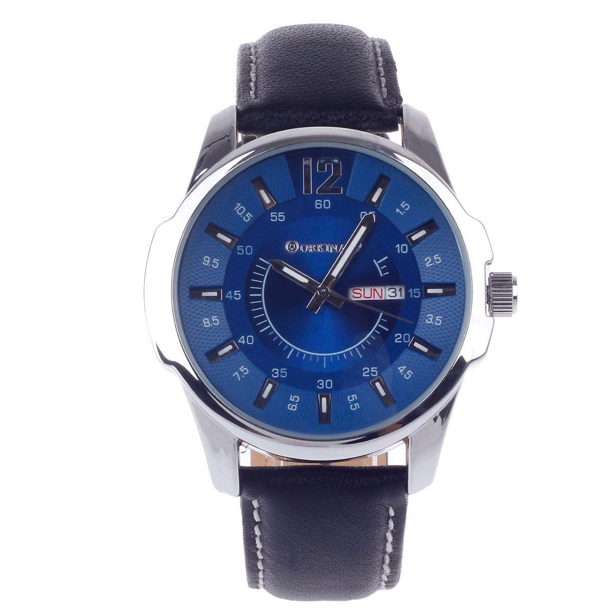 ORKINA W003 Fashionable Simple Calendar Men's Quartz Analog Wrist Watch