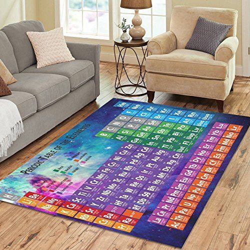 InterestPrint Colorful Outer Space with Periodic Table of the Element Area Rugs 7 x 5 Feet, N... InterestPrint Colorful Outer Space with Periodic Table of the Element Area Rugs 7 x 5 Feet, Nebula Chemistry Element Modern Carpet Floor Rugs Mat for Children Kids Home Living Playroom Decoration,