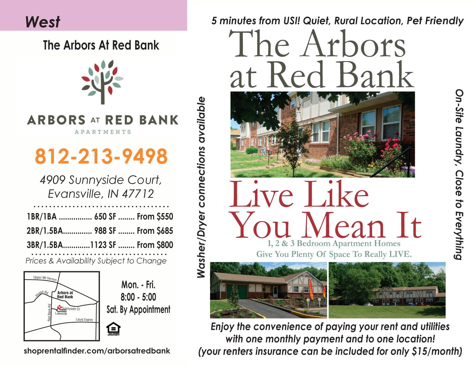 Looking For An Apartment By Usi Check Out The Arbors At Red Bank Give Them A Call 812 213 9498