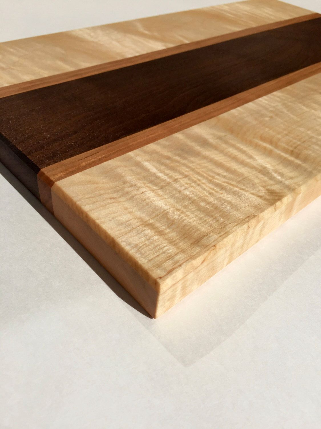 Large Wood Cutting Board Part - 28: Large Handmade Wooden Cutting Board - Cherry Wood And Walnut